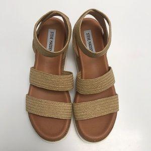 Steve Madden Bandi Natural Raffia Platform Sandal